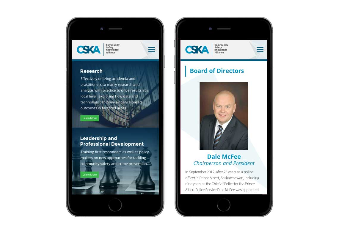 Community Safety Knowledge Alliance Website Mobile