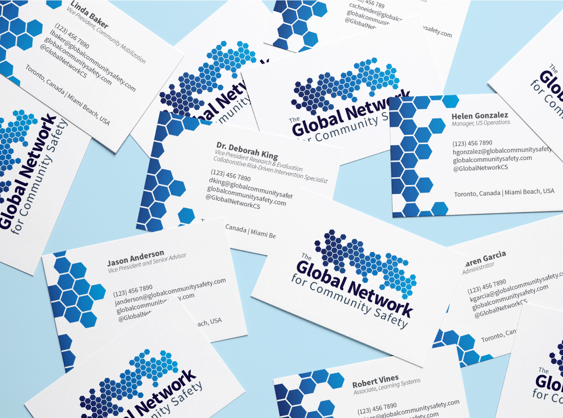 The Global Network for Community Safety Business Cards